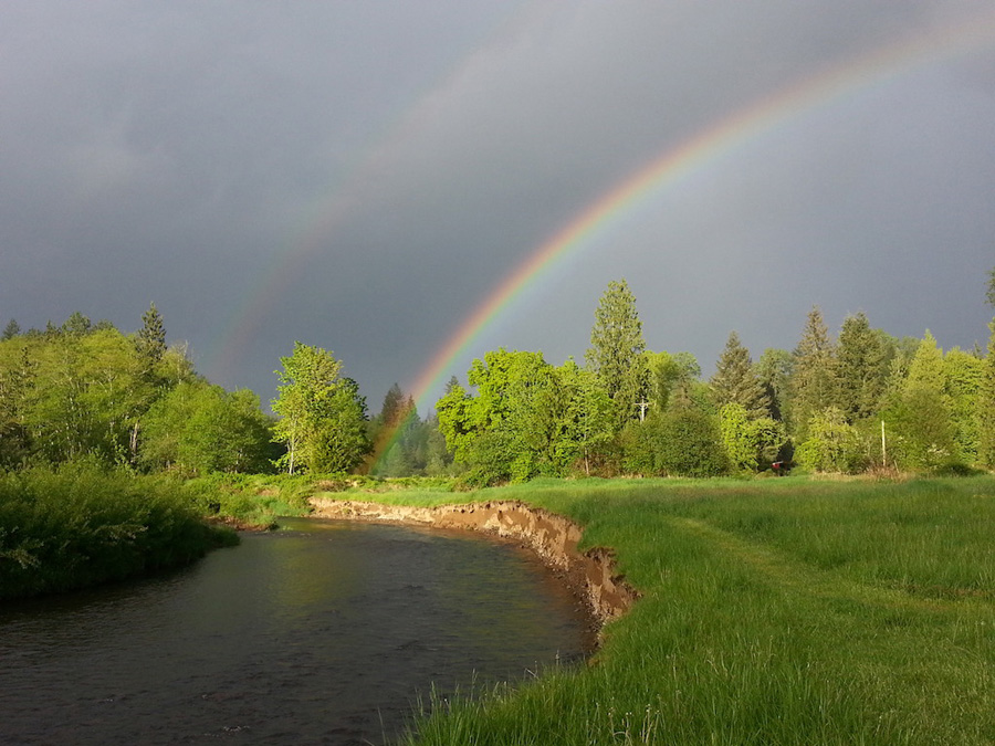 Unsettled April Evening Weather along the South Fork – Honorable Mention, by Tom Caton