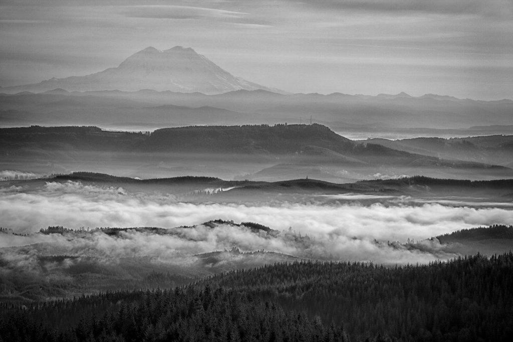 The View East Over the Chehalis Valley to Mt. Rainier – Honorable Mention, by Rollin Geppert